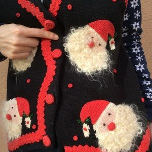 Vintage Santa Christmas Ugly Sweater Vest